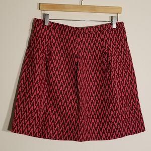 AnnTaylor Loft Linen chevron skirt